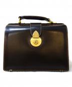土屋鞄(ツチヤカバン)の古着「ロウ引きダレスバッグ」|ブラック