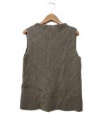 FOXEY(フォクシー)の古着「Sleeveless Sweater Souffle」|ベージュ