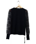 FOXEY(フォクシー)の古着「Lace Knit」|ブラック