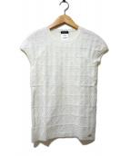 CHANEL(シャネル)の古着「半袖ニット」|ホワイト