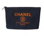 CHANEL(シャネル)の古着「デニムクラッチバッグ」|インディゴ