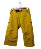 teton bros(ティトンブロス)の古着「クライミングクロップドパンツ」|イエロー