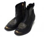 GOLDEN GOOSE(ゴールデングース)の古着「サイドジップブーツ」|ブラック