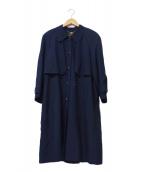 LEILIAN(レリアン)の古着「シルクトレンチコート」|ネイビー