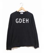 GOOD ENOUGH(グッドイナフ)の古着「GDEHロゴTシャツ」 ブラック