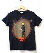 ISSEY MIYAKE(イッセイミヤケ)の古着「プリントTシャツ」|ブラック