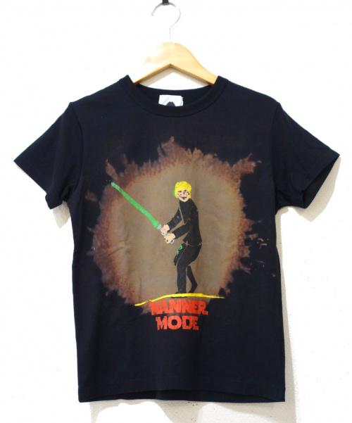 ISSEY MIYAKE(イッセイミヤケ)ISSEY MIYAKE (イッセイミヤケ) プリントTシャツ ブラック サイズ:2の古着・服飾アイテム