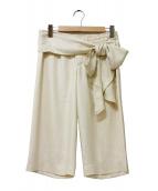 ISSEY MIYAKE(イッセイミヤケ)の古着「ガウチョパンツ」|ベージュ