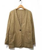 FRAMeWORK(フレームワーク)の古着「レーヨンリネンVネックジャケット」|ベージュ