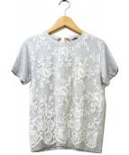 MIU MIU(ミュウミュウ)の古着「レースカットソー」|グレー