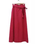 Plage(プラージュ)の古着「ドンゴロスマキシスカート」|ピンク