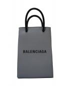 BALENCIAGA(バレンシアガ)の古着「ショッピングフォンホルダーバッグ」|グレー