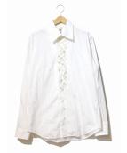 GROUND Y(グラウンドワイ)の古着「マルチボタンデザインシャツ」|ホワイト