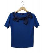 MS GRACY(エムズグレイシー)の古着「半袖ニット」|ネイビー
