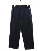 BEAMS SSZ(ビームスエスエスゼット)の古着「別注サイドラインワークパンツ」 ブラック