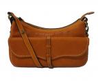 土屋鞄(ツチヤカバン)の古着「オイルヌメ2WAYリーフショルダーバッグ」|ベージュ