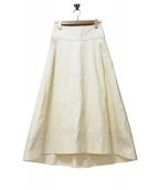 SACRA(サクラ)の古着「ベルテッドマキシスカート」 アイボリー