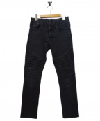 STAMPD(スタンプド)の古着「バイカーデニムパンツ」|ブラック