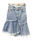 DIESEL(ディーゼル)の古着「リメイクデニムスカート」|スカイブルー