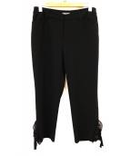 TO BE CHIC(トゥービーシック)の古着「裾装飾クロップドパンツ」|ブラック