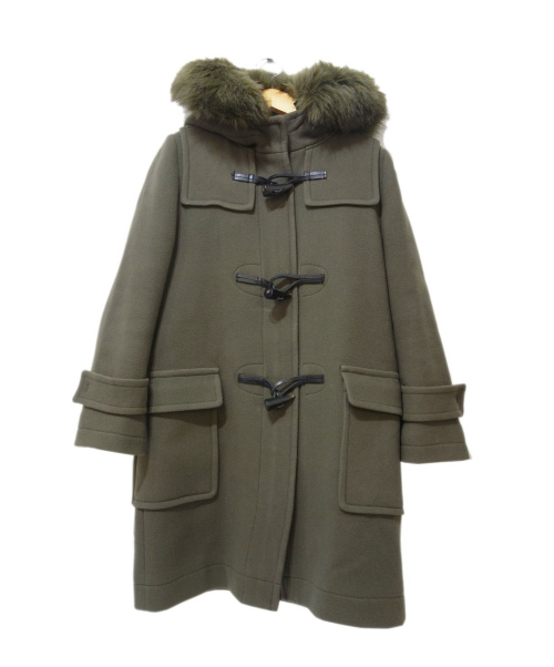 FRAY ID(フレイアイディー)FRAY ID (フレイアイディー) エコファーコクーンダッフルコート オリーブ サイズ:Sの古着・服飾アイテム