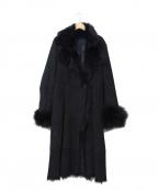 MOGA(モガ)の古着「ムートンファーコート」|ブラック