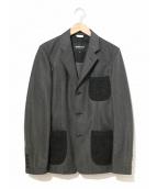 COMME des GARCONS HOMME DEUX(コムデギャルソンオムドゥ)の古着「素材切替ジャケット」|ブラック