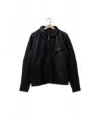 VANSON(バンソン)の古着「レザージャケット」|ブラック