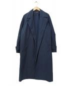 SACRA(サクラ)の古着「タフタチェスターコート」|ネイビー