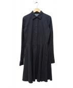 PRADA(プラダ)の古着「デニムシャツワンピース」|ブラック