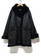 ritsuko shirahama(リツコシラハマ)の古着「シープレザーコート」 ブラック