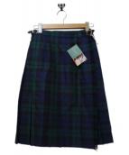 ONEIL OF DUBLIN(オニール オブ ダブリン)の古着「キルトチェックスカート」|グリーン