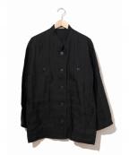 ISSEY MIYAKE()の古着「[OLD]オーバーシルエットマオカラージャケット」 ブラック