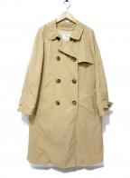 49AV junko shimada(ジュンコシマダ)の古着「ダウンライナートレンチコート」|ベージュ