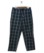 THE NORTH FACE(ザノースフェイス)の古着「Twill Check Wide Field Pants」|グリーン