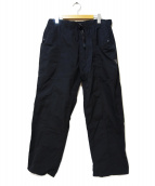 south2 west8(サウスツーウエストエイト)の古着「BELTED CENTER SEAM PANT」|ブラック