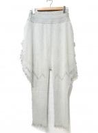 ISSEY MIYAKE(イッセイミヤケ)の古着「フリンジパンツ」 グレー