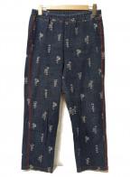 OLLEBOREBLA(アルベロベロ)の古着「サイドラインストレッチデニムパンツ」 ネイビー