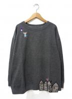 OLLEBOREBLA(アルベロベロ)の古着「刺繍スウェット」 グレー