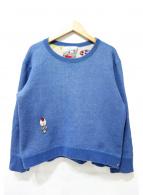 OLLEBOREBLA(アルベロベロ)の古着「七分丈刺繍スウェット」 ブルー