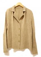 SPECCHIO(スペッチオ)の古着「プリーツジャケット」|ベージュ