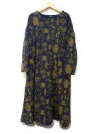 Marble SUD(マーブルシュッド)の古着「刺繍ワンピース」|ネイビー