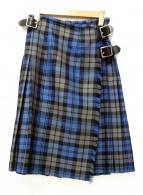 ONEIL OF DUBLIN(オニール オブ ダブリン)の古着「キルトチェックスカート」|ブルー