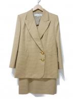 Christian Dior(クリスチャンディオール)の古着「[OLD]ダブルジャケットセットアップ」 ベージュ