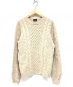 Drumohr(ドルモア)の古着「ケーブル編みニット」|ホワイト