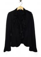 NARA CAMICIE(ナラカミーチェ)の古着「フリルジャケット」|ブラック