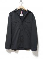 Serge Blanco(セルジュブランコ)の古着「ミリタリーワークシャツジャケット」|ブラック