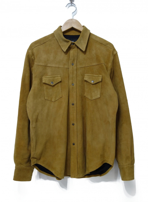 Rags McGREGOR(ラグス マクレガー)Rags McGREGOR (ラグスマックレガー) スウェードシャツ ベージュ サイズ:Mの古着・服飾アイテム