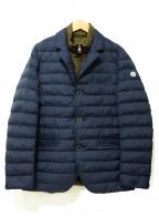 Serge Blanco(セルジュブランコ)の古着「フェイクレイヤード中綿ジャケット」|ネイビー