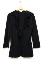 VALENTINO()の古着「ビスコースフリルブラウス」|ブラック